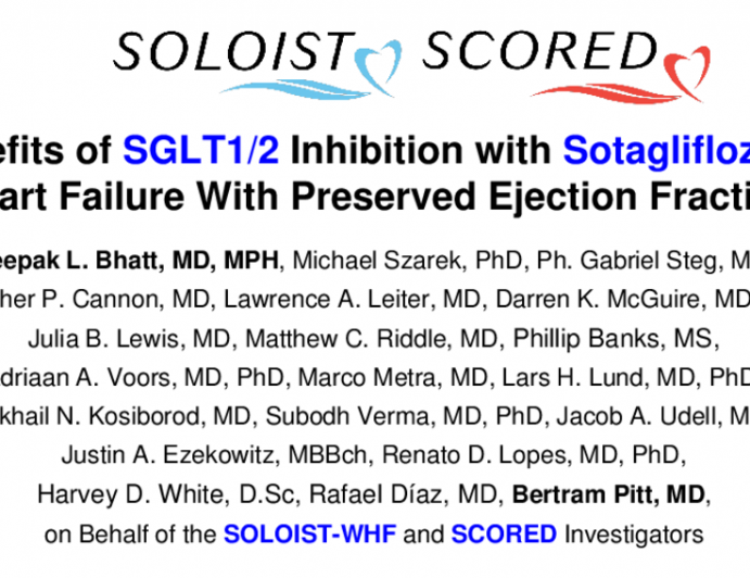 Benefits of SGLT1/2 Inhibition with Sotagliflozin in Heart Failure With Preserved Ejection Fraction