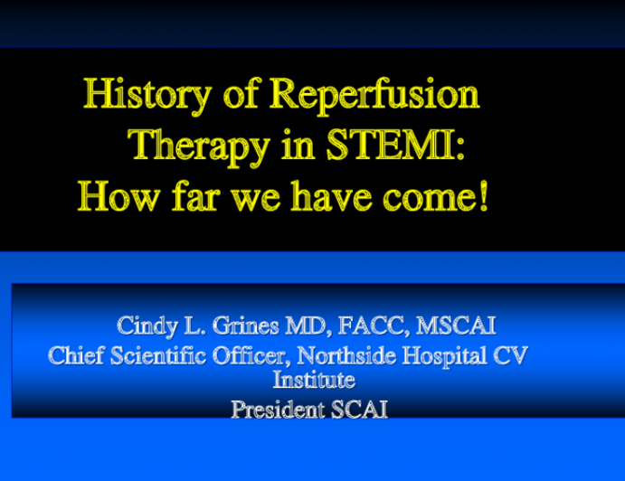 History of Reperfusion Therapy in STEMI: How far we have come!