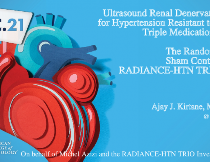 Ultrasound Renal Denervation for Hypertension Resistant to a Triple Medication Pill: The Randomized Sham Controlled RADIANCE-HTN TRIO Trial