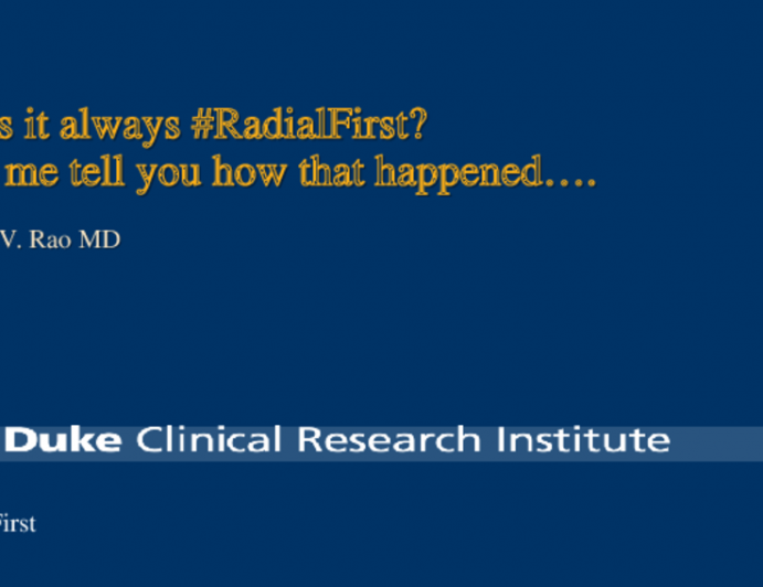 Was it always #RadialFirst? Let me tell you how that happened….