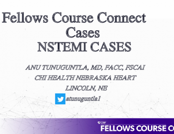 Fellows Course Connect Cases NSTEMI CASES