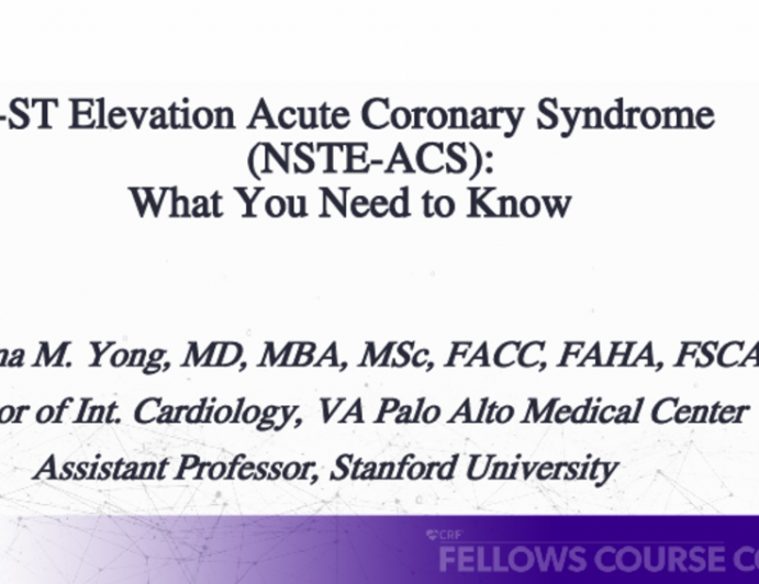 Non-ST Elevation Acute Coronary Syndrome(NSTE-ACS): What You Need to Know