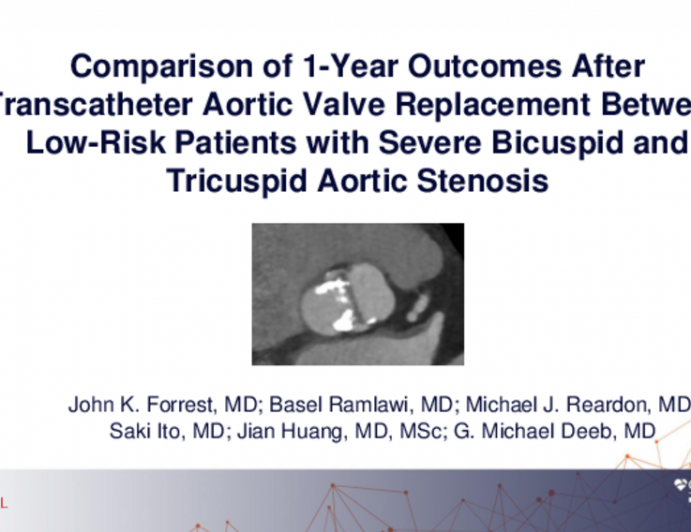 Comparison of 1-Year Outcomes After Transcatheter Aortic Valve Replacement in Low-Risk Patients With Severe Bicuspid and Tricuspid Aortic Valve Stenosis