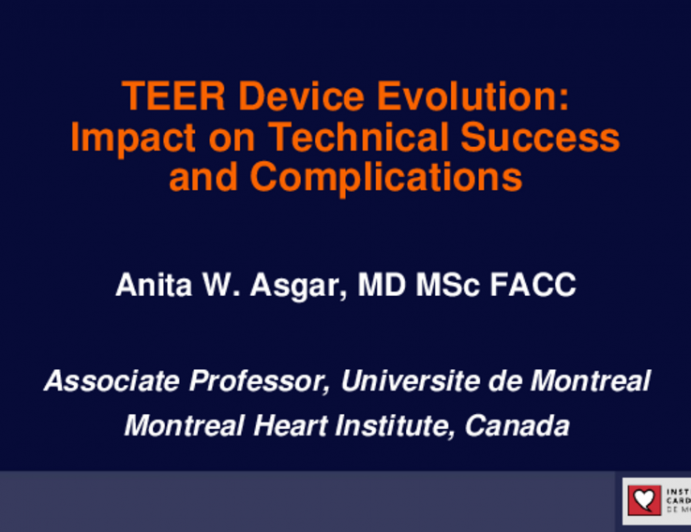 TEER Device Evolution: Impact on Technical Success and Complications