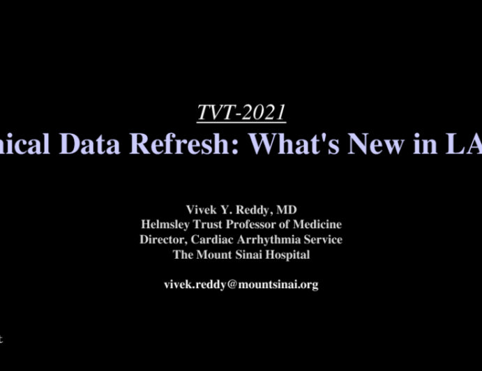 Clinical Data Refresh: What's New in LAAO