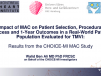 Impact of MAC on Patient Selection, Procedural Success and 1-Year Outcomes in a Real-World Patient Population Evaluated for TMVI: Results From the CHOICE-MI MAC Study