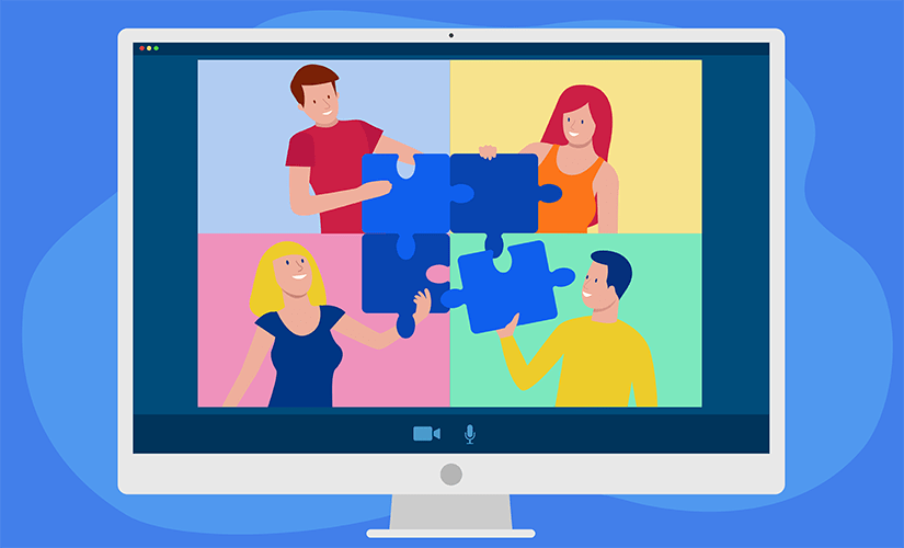 REMOTE TEAM-BUILDING GAMES template