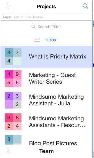 Priority Matrix iPad