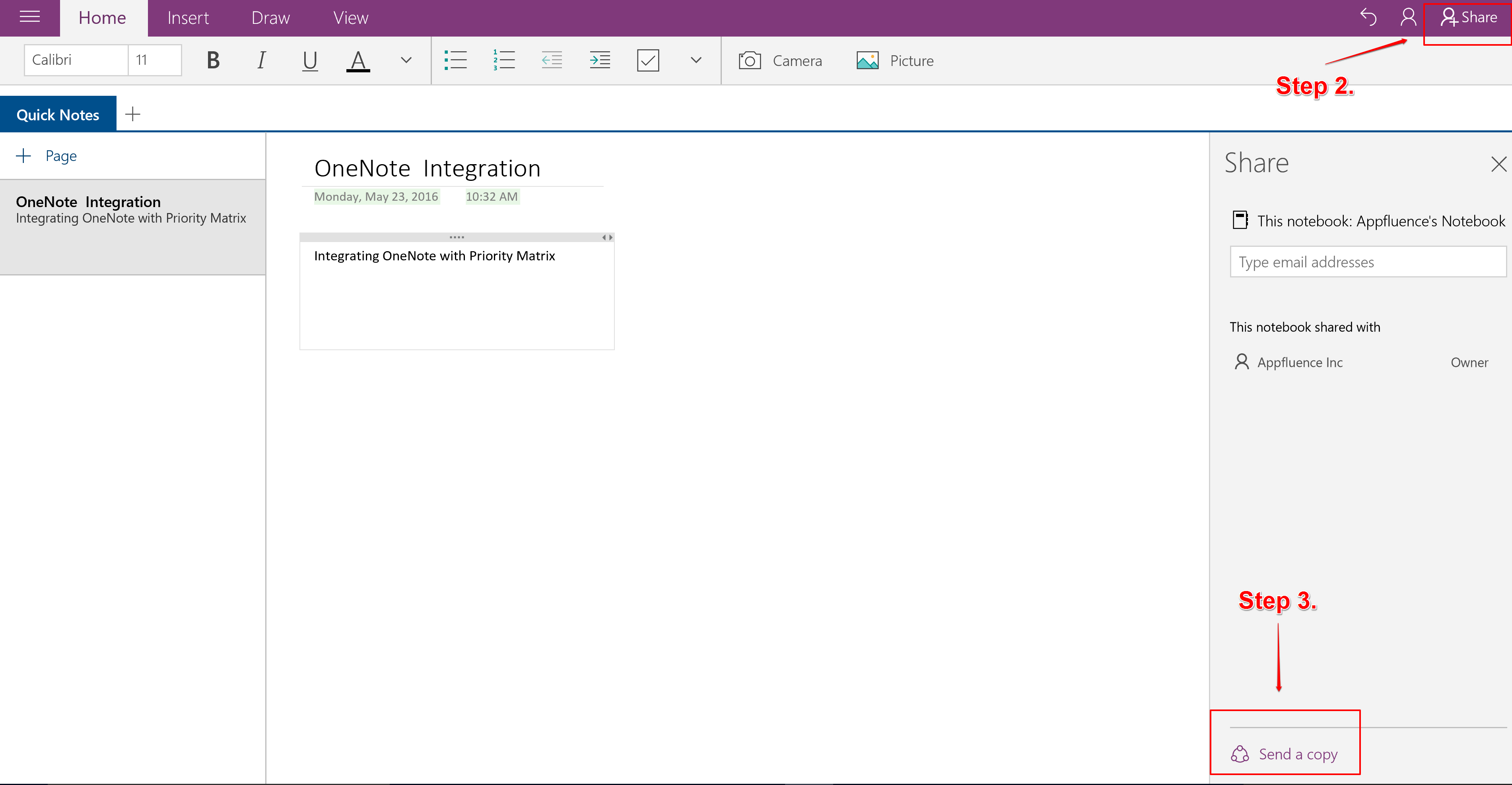 How to Integrate OneNote with Priority Matrix on Windows