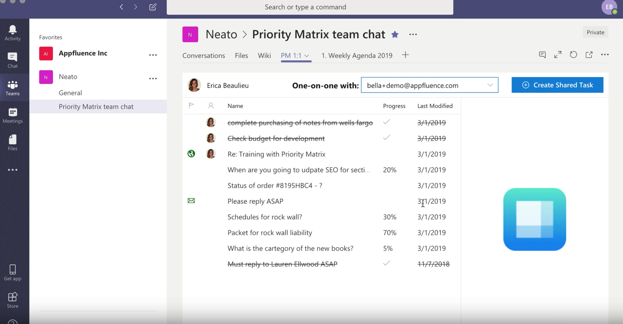 One on One Meeting Tool for Microsoft Teams