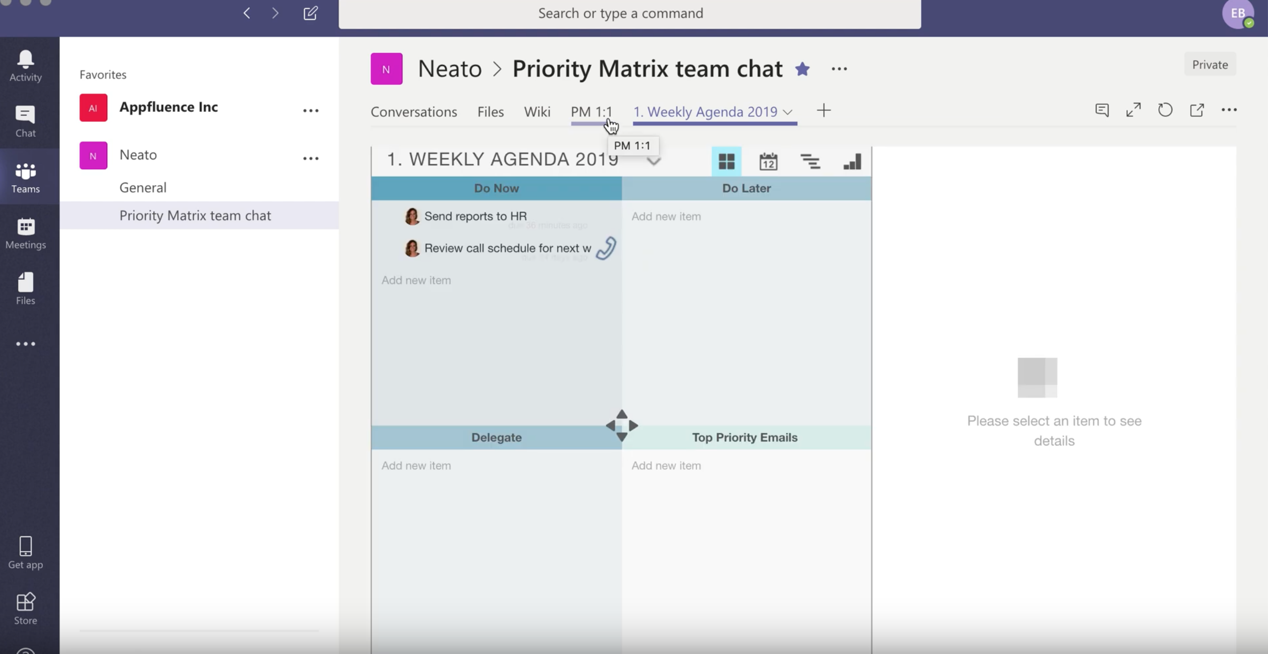 Project Management Integration for Microsoft Teams