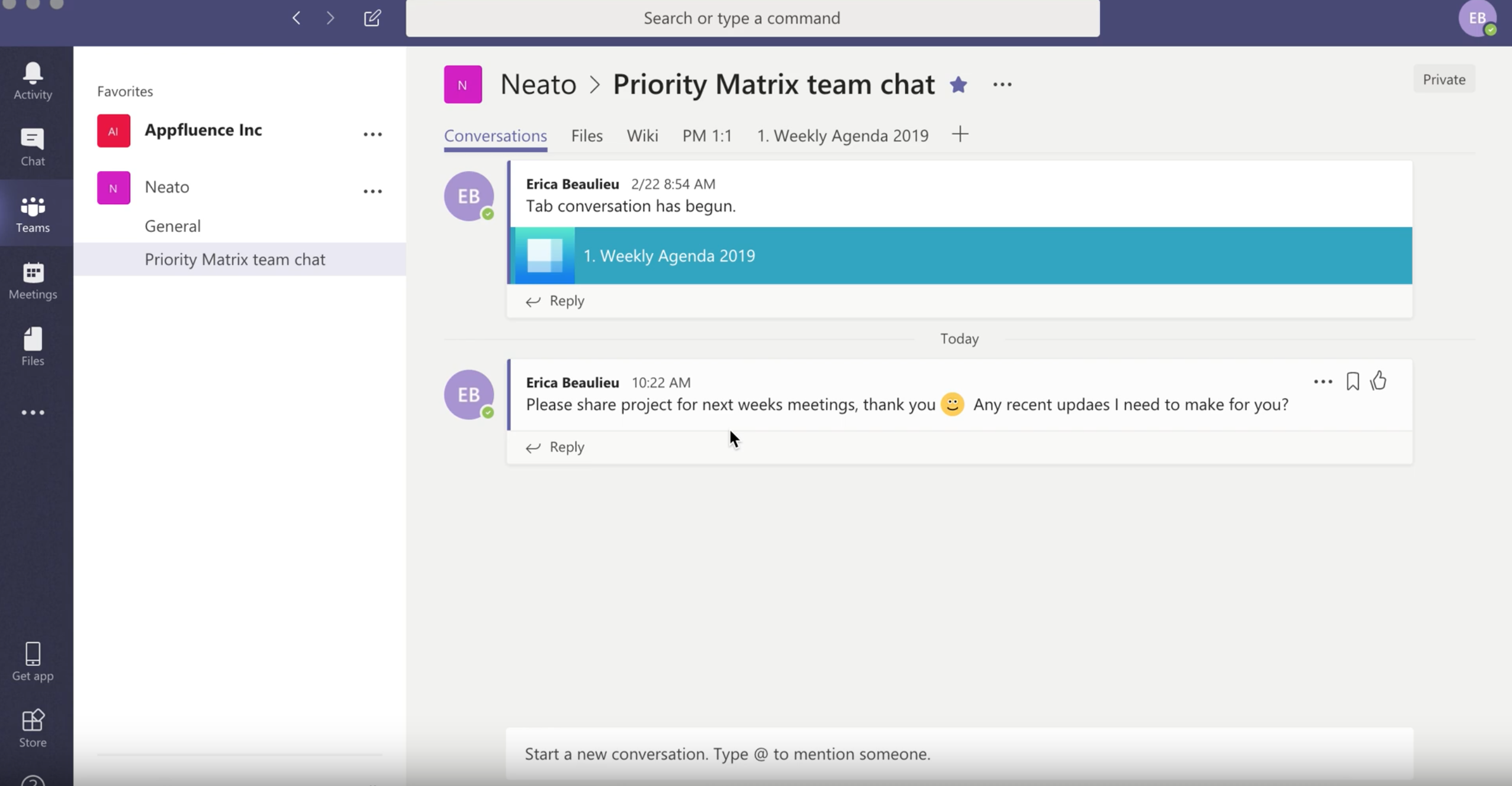 Prioritization and Reminder Chatbot for Microsoft Teams