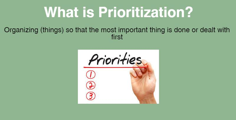 prioritization