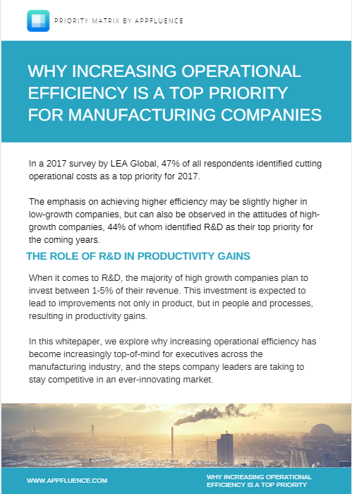 Increase Manufacturing Operations Efficiency