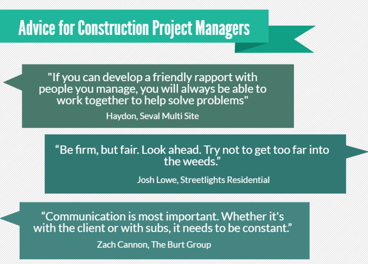 Advice for Construction Project Managers