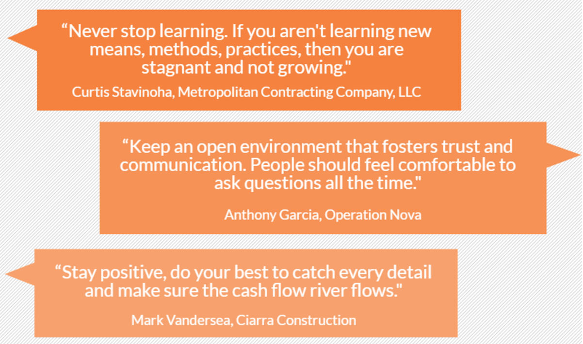 management tips from construction project managers share on twitter<<