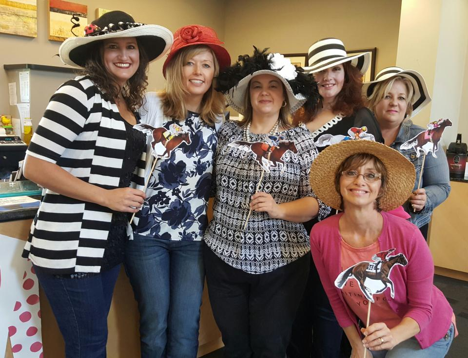 Pinnacle associates go all out for team events like the Derby Day celebration at the firm's 100 Oaks office in Nashville.