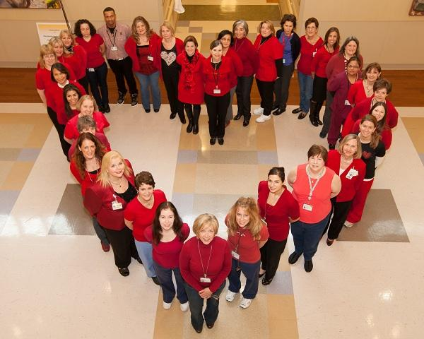 Gagnon Cardiovascular Institute on wear red day to support fighting heart disease in women