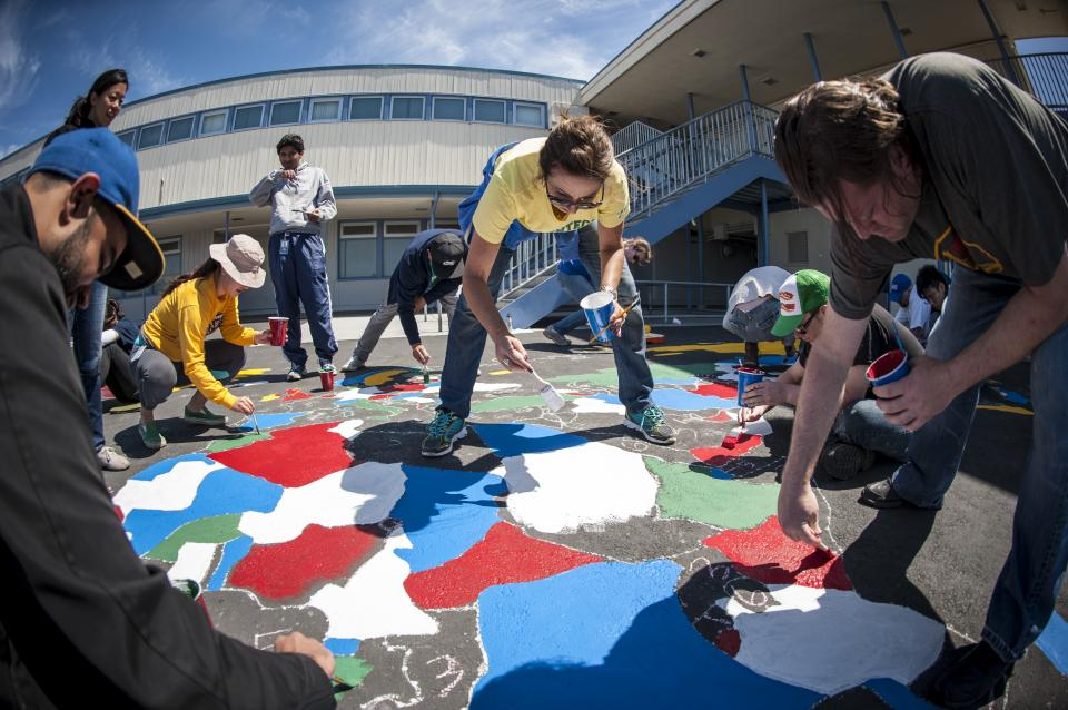 In 2015, about 30 percent of our Genentech Gives Back Week volunteer opportunities benefited local South San Francisco schools, where more than 700 employees were involved in large-scale building and beautification projects.