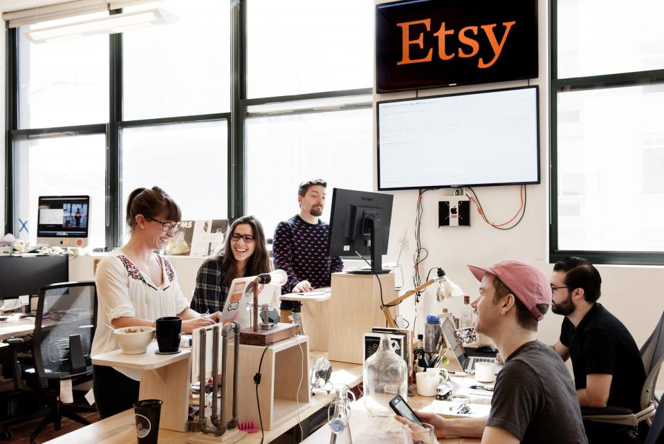 Every employee receives a $100 Etsy credit to decorate their desk
