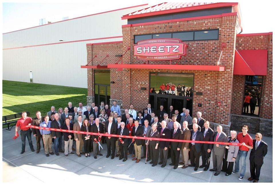 Employees and Sheetz family at the Burlington Distribution Center opening