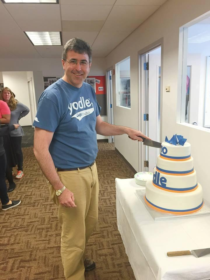 Yodle CEO Court Cunningham celebrates the company's 10 year anniversary.