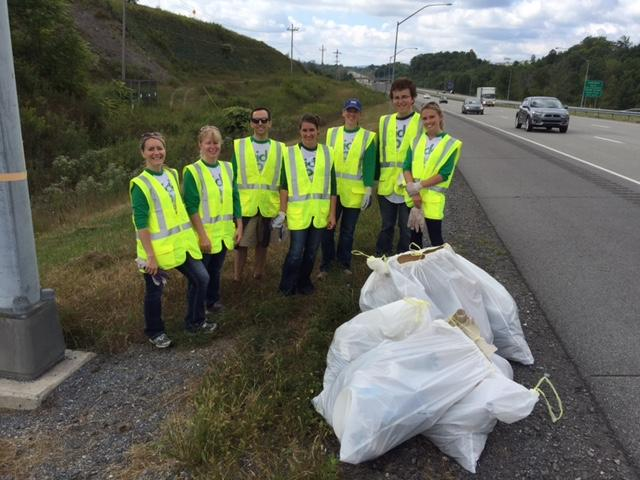 Sheetz family members and employees volunteer their time for Adopt-A-Highway.
