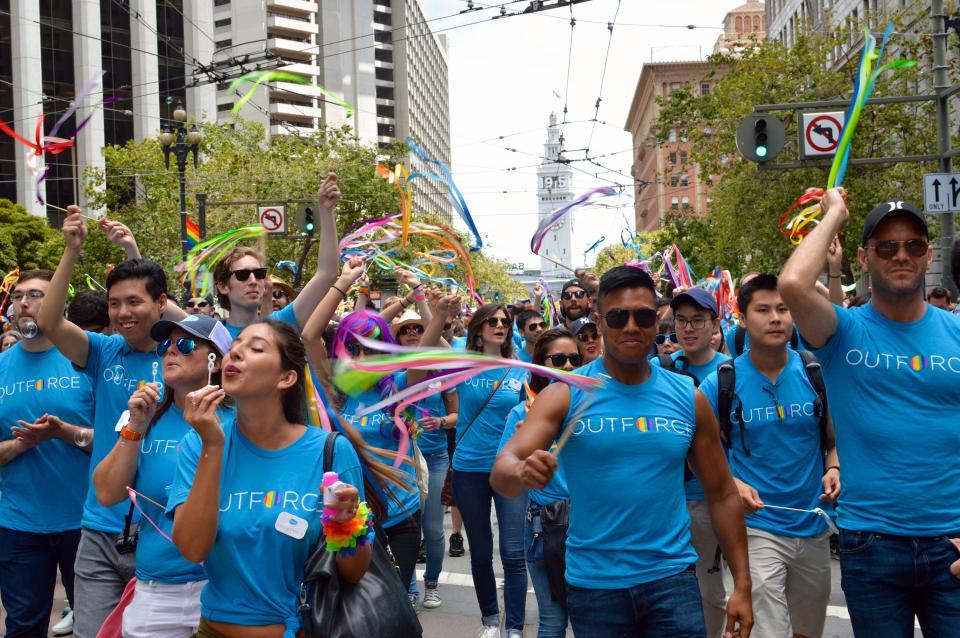 Employees at the San Francisco Pride Parade 2015