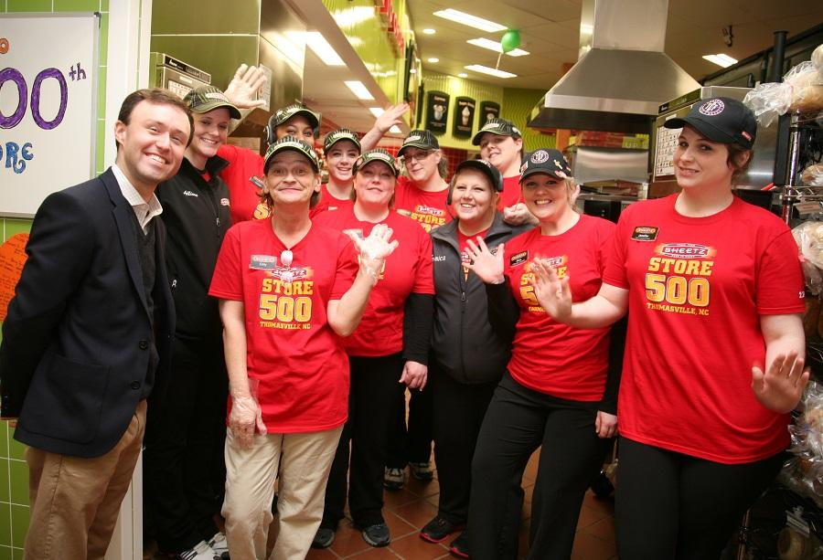 Employees with Adam Sheetz at New Store Opening