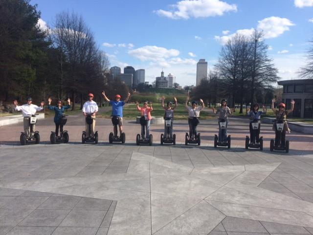 These Pinnacle associates who celebrated a milestone with the firm this past year chose Segway tours in downtown Nashville as part of their anniversary celebration. They were also treated to lunch in their honor and a fun evening at Nashville's Pinewoood Social.