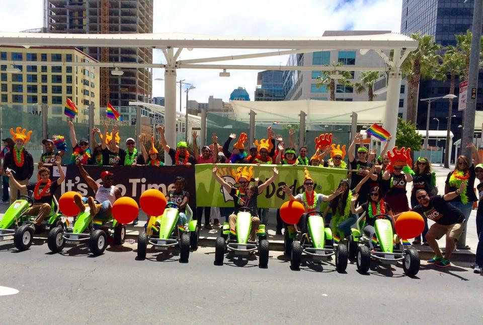 GoDaddy UNITED in the San Francisco Pride Parade