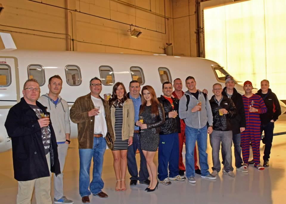 Impact Sales Incentive Winners are Rewarded with a trip to Vegas on a private Jet.