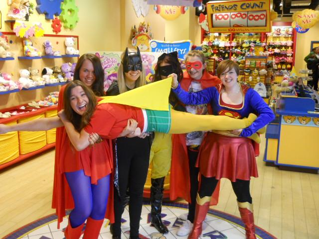 Store Associates CeleBEARating The Avenger's Product Launch