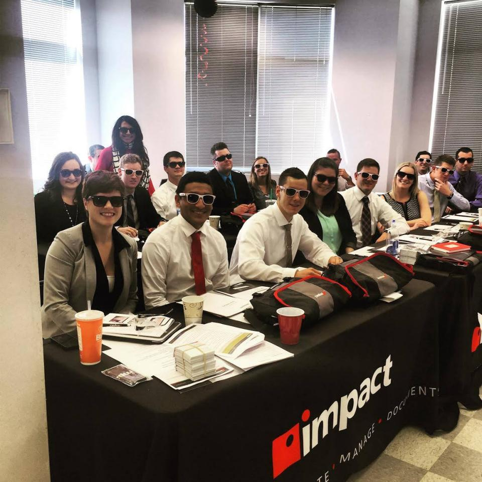 New Hires Geared Up with Impact Shades at Bootcamp.