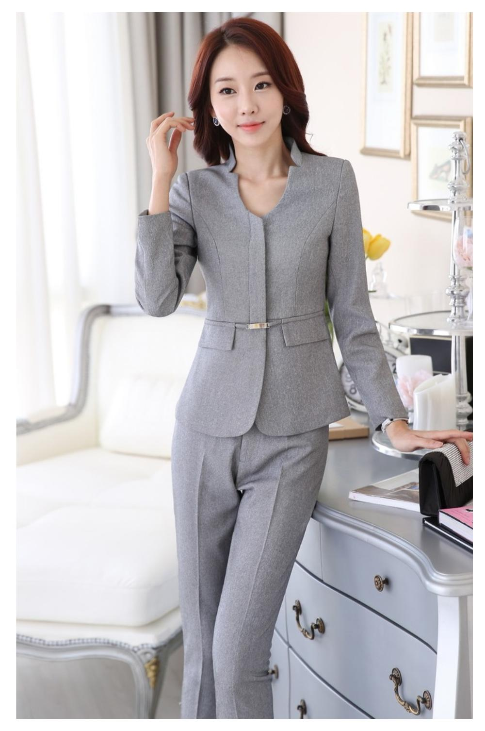 Size 4XL Uniform Design Winter Professional Women Work Suits ...