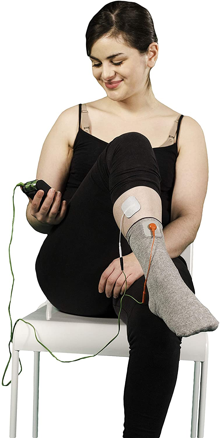 Electrotherapy Sock - Conductive Garment for Tens Unit - one Size fits Al