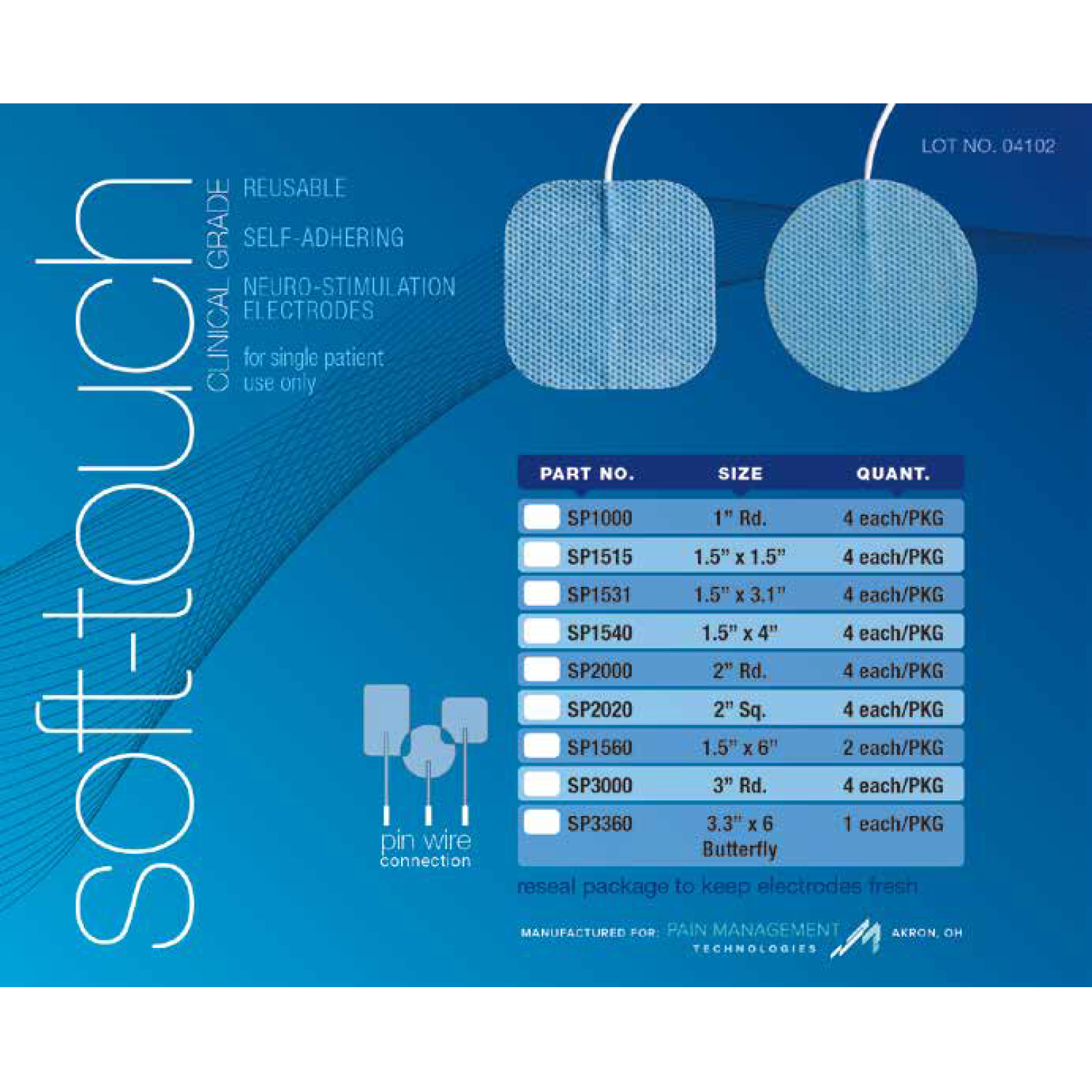 Soft-Touch Clinical Grade Electrodes