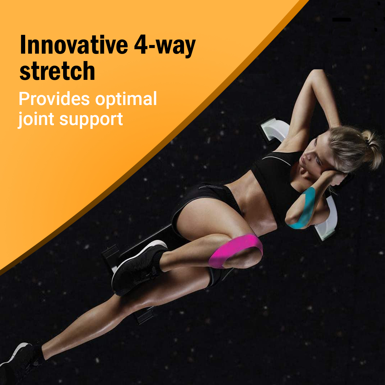 XFlex K Tape Waterproof Uncut Roll – Physio Tape 4 Way Stretch – Kinesiology Tape Pro 2 inch x 16 ft - Pink