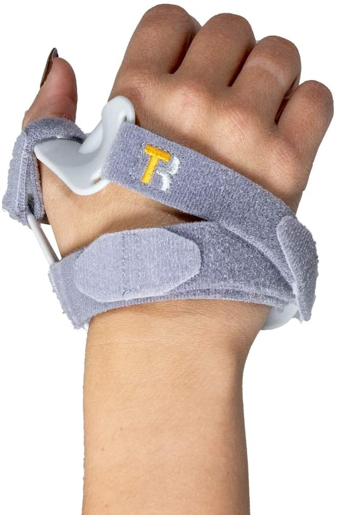 Rigid Thumb Brace Immobilizer by Rapid Thumb Small - Tendonitis Arthritis Relief Pain Recovery - CMC Joint Thumb Stabilizer, Splint Spica, Abducted Thumb-Large