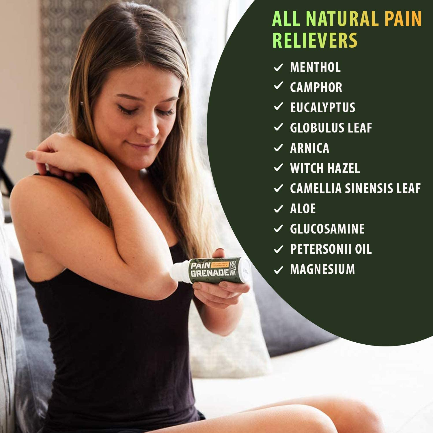 Pain Relieving Gel by Pain Grenade - Arthritis, Back Pain Therapy, Muscle Ache Cream – Cooling and Warming with Arnica, Menthol, Camphor
