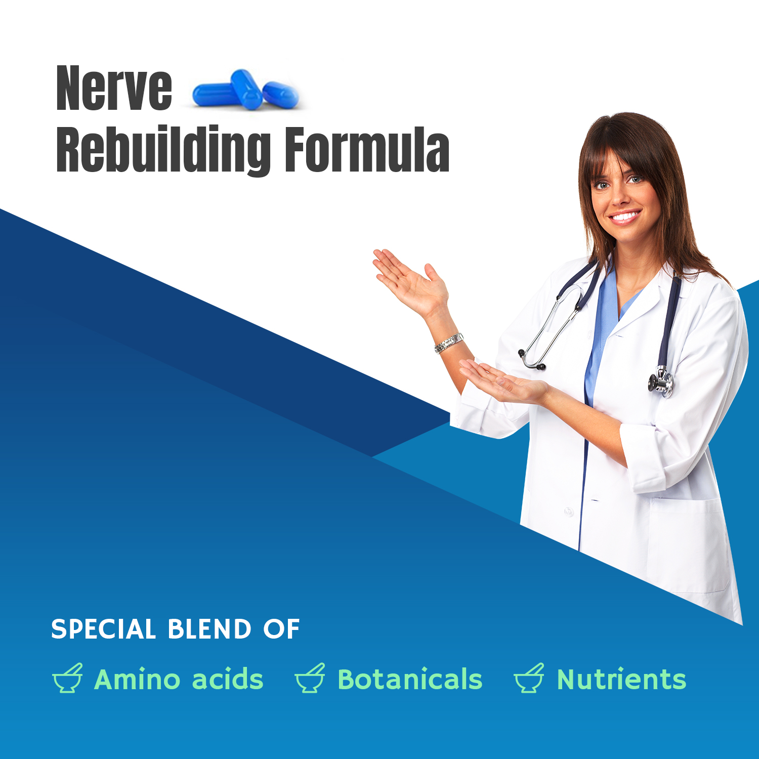 Neuropathy Support Supplement - Nerve Pain Support - Nitric Oxide/L-Arginine for Peripheral Neuropathy - Feet Hand Legs Toe Maximum Strength Nerve Renew Repair Support Formula 120 Caps