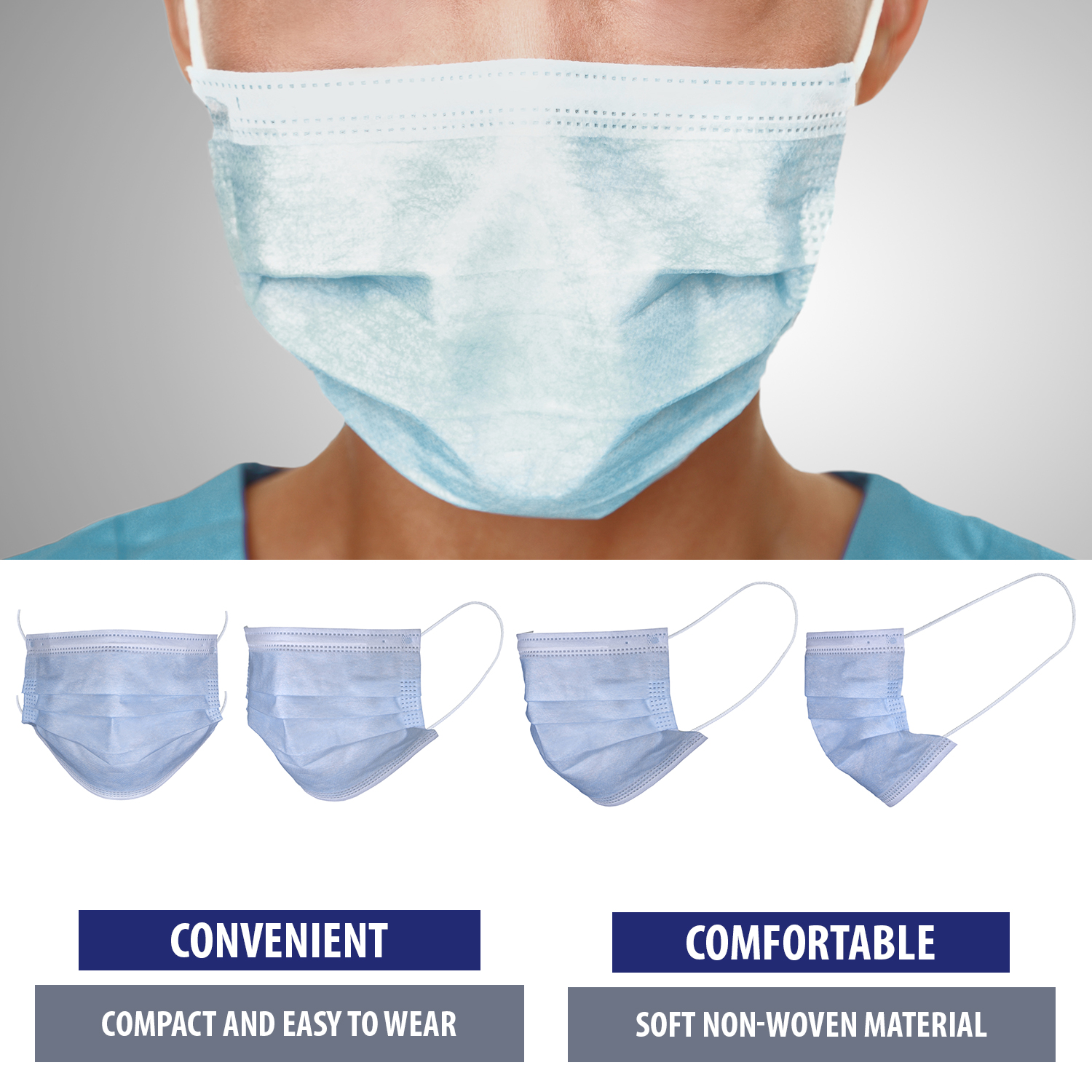 3-Ply Disposable Mask 50 pack