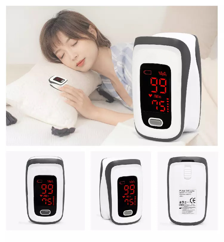 Pulse oximeter – Sp02 and Puls with 4-way LED screen