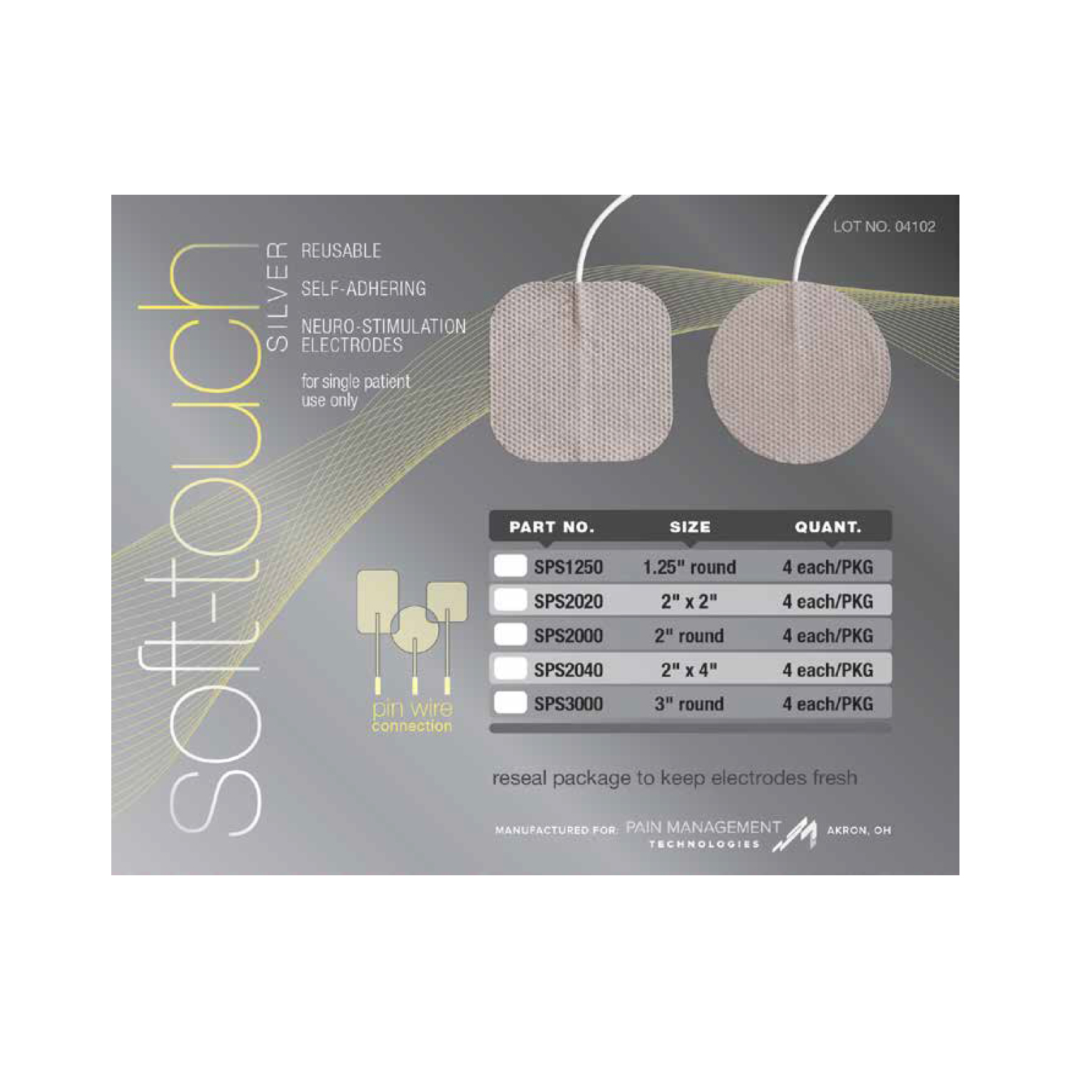 Soft-Touch Silver Electrodes tricot back (tyco gel)