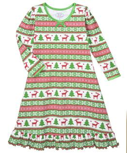 Whirl-and-Twirl Long-Sleeve Nightgown