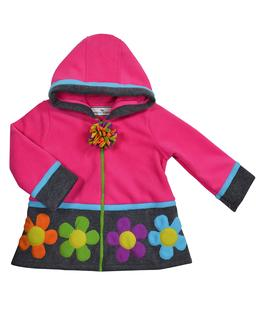 Color block flower jkt