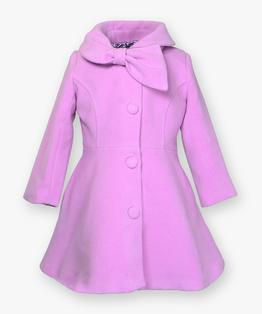 Bow collar coat