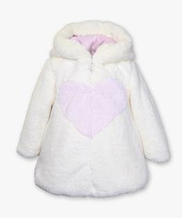 Hooded heart puff coat