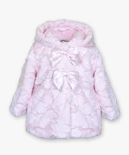 Double bow hooded coat