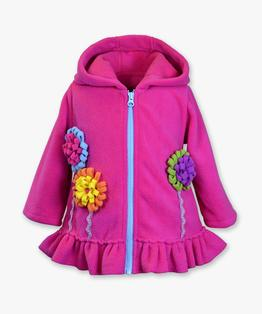 Hooded flower garden coat